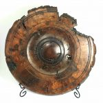 A rustic Oak burr wall hanging