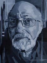 "Dad, 2016 Acrylic on canvas, 20\"" x 16\"""