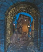 'Albarracin' Spain, acrylics on canvas.