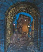 'Albarracin' Spain, acrylics on canvas.