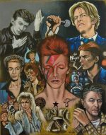 Painting of the late David Bowie titled 'Changes'