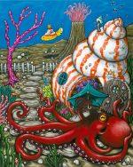 'Octopus's Garden' acrylics on canvas.
